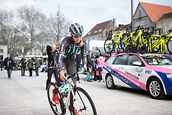 Maria Vittoria Sperotto (ITA) of Bigla Pro Cycling Team rides to the start of the AG Driedaagse Brugge-De Panne - a 134.4 km road race, between Brugge and De Panne on April 21, 2018, in West Flanders, Belgium. (Photo by Balint Hamvas/Velofocus.com)
