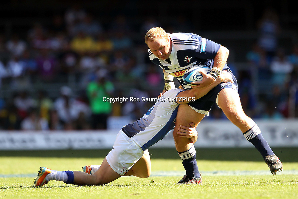Brok Harris of the Stormers during the Super 15 match between the DHL Stormers and The Western Force held at DHL Newlands Stadium in Cape Town, South Africa on the 26 March 2011..Photo by Ron Gaunt/SPORTZPICS