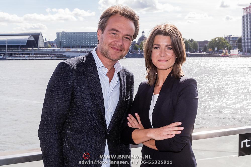 NLD/Amsterdam/20160829 - Seizoenspresentatie RTL 2016 / 2017, Antoin Peeters en Merel Westrik
