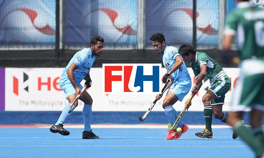 LONDON, ENGLAND - JUNE 18:  during the Hero Hockey World League Semi-Final match between Pakistan and India at Lee Valley Hockey and Tennis Centre on June 18, 2017 in London, England.  (Photo by Alex Morton/Getty Images)