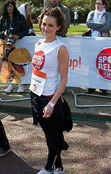 Kara Tointon  taking part in a one mile run for Sport Relief charity in London, 25th March 2012.  Photo by: i-Images