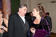 JIM CARTER; JULIE KATE OLIVIER, Post Olivier Awards Gala party. Waldorf Astoria. London. 13 March 2011. -DO NOT ARCHIVE-© Copyright Photograph by Dafydd Jones. 248 Clapham Rd. London SW9 0PZ. Tel 0207 820 0771. www.dafjones.com.
