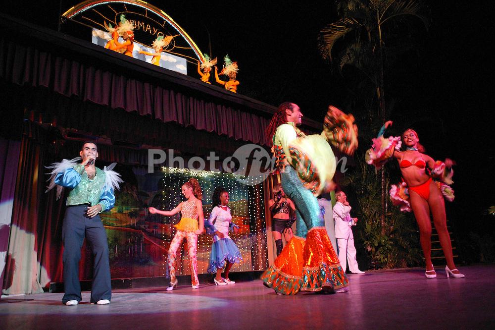 Dancers in costume perform at the Rumayor Cabaret; Pinar del Rio; Cuba,