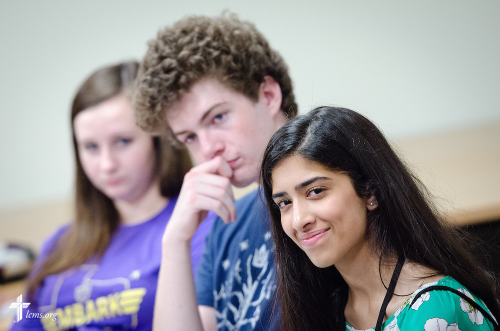 Students listen during an orientation activity at Concordia University Texas on Tuesday, July 15, 2014, in Austin, Texas. LCMS Communications/Erik M. Lunsford