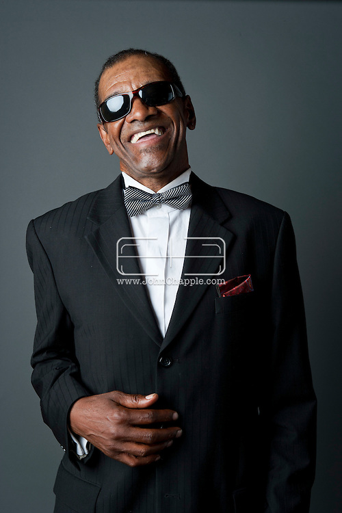24th February 2011. Las Vegas, Nevada.  Celebrity Impersonators from around the globe were in Las Vegas for the 20th Annual Reel Awards Show. Pictured is  Johnnie Smoot as Ray Charles. Photo © John Chapple / www.johnchapple.com..