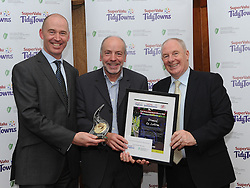 Dromod Tidy Towns Co Roscommon  Gold Medal Winners at the North West and West Region Awards ceremony Sean McGowan collecting the prize from Minister of State for Rural development Michael Ring TD and Richard Lennon Supervalu.<br /> Pic Conor McKeown