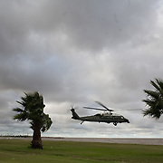 President George W. Bush and First Lady Laura Bush depart for Anchorena Park, Saturday, March 10, 2007, in Montevideo, Uruguay.<br /> <br /> Photo by Khue Bui