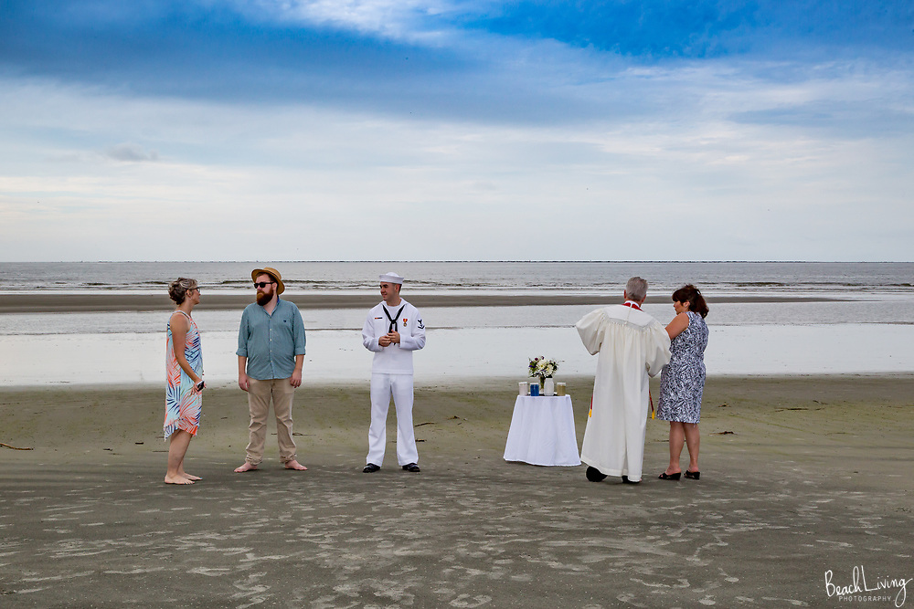 Austin and Addie Wiely Wedding, Isle Of Palms, SC.  September 2, 2017 Navy Dress Whites