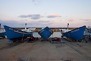 Irabu-jima. Sarahama fishing port. Fishing boats.