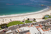 Laguna Beach Main Beach Aerial Stock Photo
