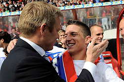 16-05-2010 VOETBAL: FC UTRECHT - RODA JC: UTRECHT<br /> FC Utrecht verslaat Roda in de finale van de Play-offs met 4-1 en gaat Europa in / Foeke Booy en Dries Mertens<br /> ©2010-WWW.FOTOHOOGENDOORN.NL