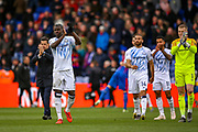 Everton players thank the away fans during the Premier League match between Crystal Palace and Everton at Selhurst Park, London, England on 27 April 2019.