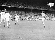 Roscommon kicks the ball over the bar during the All Ireland Senior Gaelic Football Semi Final Replay Roscommon v Armagh in Croke Park on the 28th August 1977. Armagh 0-15 Roscommon 0-14.