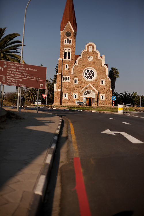 Christ Church (luteran) in Windhoek, capital of Namibia, Africa.