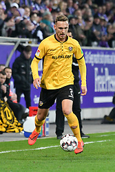 01.04.2019, Sparkassen Erzgebirgsstadion, Aue, GER, 2. FBL, FC Erzgebirge Aue vs SG Dynamo Dresden, 27. Runde, im Bild Linus Wahlqvist (SG Dynamo Dresden) // during the German 2. Bundesliga 27th round match between FC Erzgebirge Aue and SG Dynamo Dresden at the Sparkassen Erzgebirgsstadion in Aue, Germany on 2019/04/01. EXPA Pictures © 2019, PhotoCredit: EXPA/ Eibner-Pressefoto/ Bert Harzer<br /> <br /> *****ATTENTION - OUT of GER*****