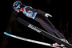 February 7, 2019 - Ljubno, Savinjska, Slovenia - Nina Lussi of United States of America competes on qualification day of the FIS Ski Jumping World Cup Ladies Ljubno on February 7, 2019 in Ljubno, Slovenia. (Credit Image: © Rok Rakun/Pacific Press via ZUMA Wire)