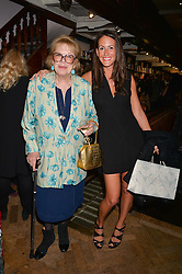 Left to right, DAME ANTONIA FRASER and ALEX PAKENHAM at a party to celebrate the publication of Stanley I Resume by Stanley Johnson at the Daunt Bookshop, Marylebone High Street, London on 23rd September 2014.