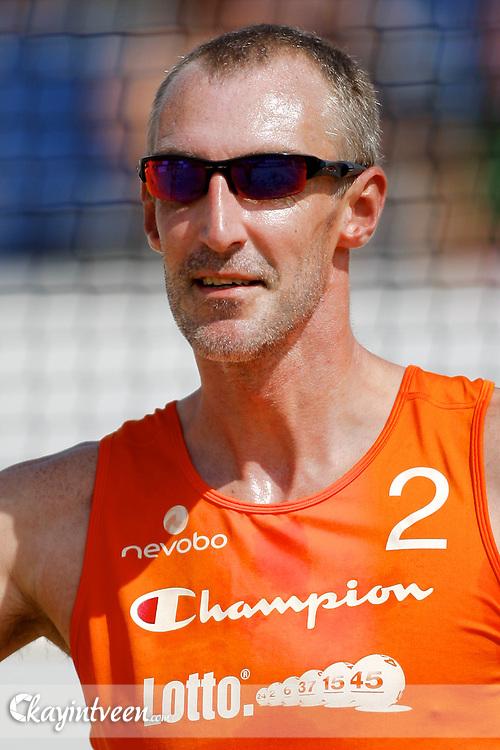 DEN HAAG - NK Beach Volleyball, Beachstadion Scheveningen, 20-08-2011, Richard Schuil