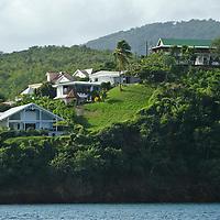 France, Martinique, Anse Mitan. Landscape of Martinique in the Caribbean.