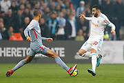 Olympique de Marseille's French defender Adil Rami vies for the ball with AS Monaco's Brasilian defender Fabinho during the French Championship Ligue 1 football match between Olympique de Marseille and AS Monaco on January 28, 2018 at the Orange Velodrome stadium in Marseille, France - Photo Benjamin Cremel / ProSportsImages / DPPI