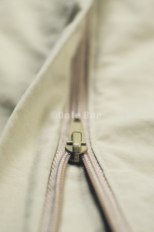 close-up of zipper