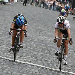 Lizzy Armistadt winss final stage Thueringen Rundfahrt Frauen in Zeulenroda, Judith Arndt 2nd