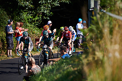 Nikola Noskova (CZE) and Elise Chabbey (SUI) lead the break during La Course by Le Tour de France, a 121 km road race starting and finishing in Pau, France on July 19, 2019. Photo by Sean Robinson/velofocus.com