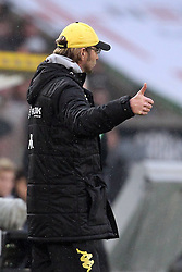03.12.2011, BorussiaPark, Mönchengladbach, GER, 1.FBL, Borussia Mönchengladbach vs Borussia Dortmund, im BildDaumen hoch Jürgen Klopp (Trainer Dortmund) // during the 1.FBL, Borussia Mönchengladbach vs Borussia Dortmund on 2011/12/03, BorussiaPark, Mönchengladbach, Germany. EXPA Pictures © 2011, PhotoCredit: EXPA/ nph/ Mueller..***** ATTENTION - OUT OF GER, CRO *****