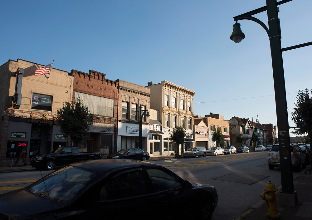 A view of Eighth Avenue in Homestead, PA.<br /> Homestead is considered to be the  gateway to the Mon Valley.