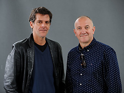 Pictured: Acclaimed authors Philippe Claudel and Daniel Mella at the Book Festival.<br /> <br /> © Dave Johnston / EEm
