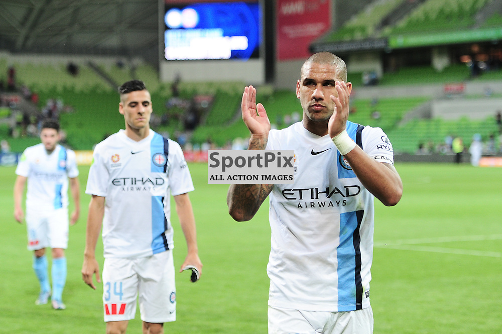 Patrick Kisnorbo of Melbourne City at the end of the Hyundai A-League,  25th October 2015, RD 3, Melbourne City FC v Central Coast Mariners with a win to City 3:1 © Mark Avellino | SportPix.org.uk