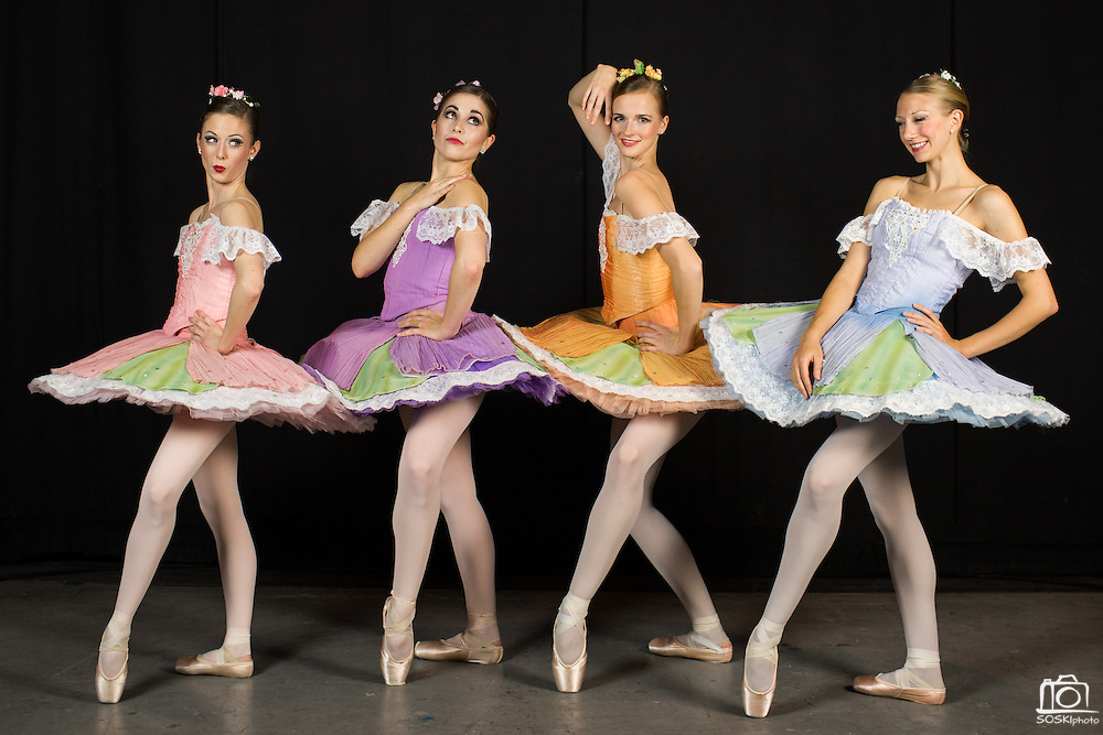 Bay Pointe Ballet pose for portraits as characters in The Nutcracker during their annual Reno Tour at the Grand Sierra Resort & Casino in Reno, Nevada, on December 6, 2014. (Stan Olszewski/SOSKIphoto)