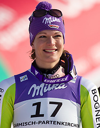 08.02.2011, Kandahar, Garmisch Partenkirchen, GER, FIS Alpin Ski WM 2011, GAP, Lady Super G, im Bild dritte Maria RIESCH (GER) // Maria RIESCH (GER) third Place during Women Super G, Fis Alpine Ski World Championships in Garmisch Partenkirchen, Germany on 8/2/2011, 2011, EXPA Pictures © 2011, PhotoCredit: EXPA/ J. Feichter