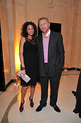 "BORIS BECKER and his wife Sharlely ""Lilly"" Kerssenberg at a dinner in honour of Dennis Basso in celebration of his new boutique in Harrods held at Claridge's, Brook Street, London on 15th October 2009."