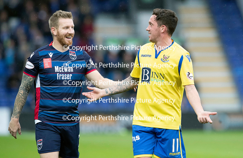 Ross County v St Johnstone…05.10.19   Global Energy Stadium   SPFL<br />Michael Gardyne and Danny Swanson<br />Picture by Graeme Hart.<br />Copyright Perthshire Picture Agency<br />Tel: 01738 623350  Mobile: 07990 594431