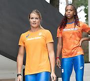 2019, September 10. Sports Centre Papendal, Arnhem, the Netherlands. Dafne Schippers and Jamile Samuel.