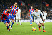 Manchester United Forward Alexis Sanchez battles with Crystal Palace #18 James McArthur during the Premier League match between Crystal Palace and Manchester United at Selhurst Park, London, England on 5 March 2018. Picture by Phil Duncan.