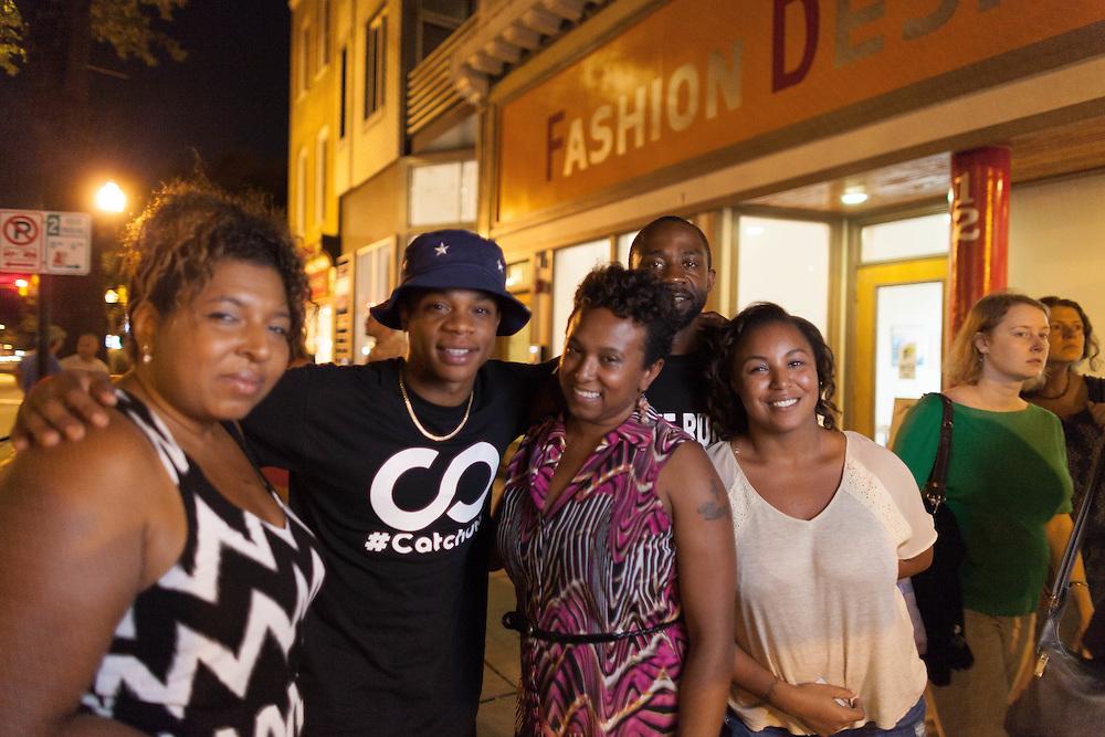 Rap artist ,Chris Scholar enjoys time with fans