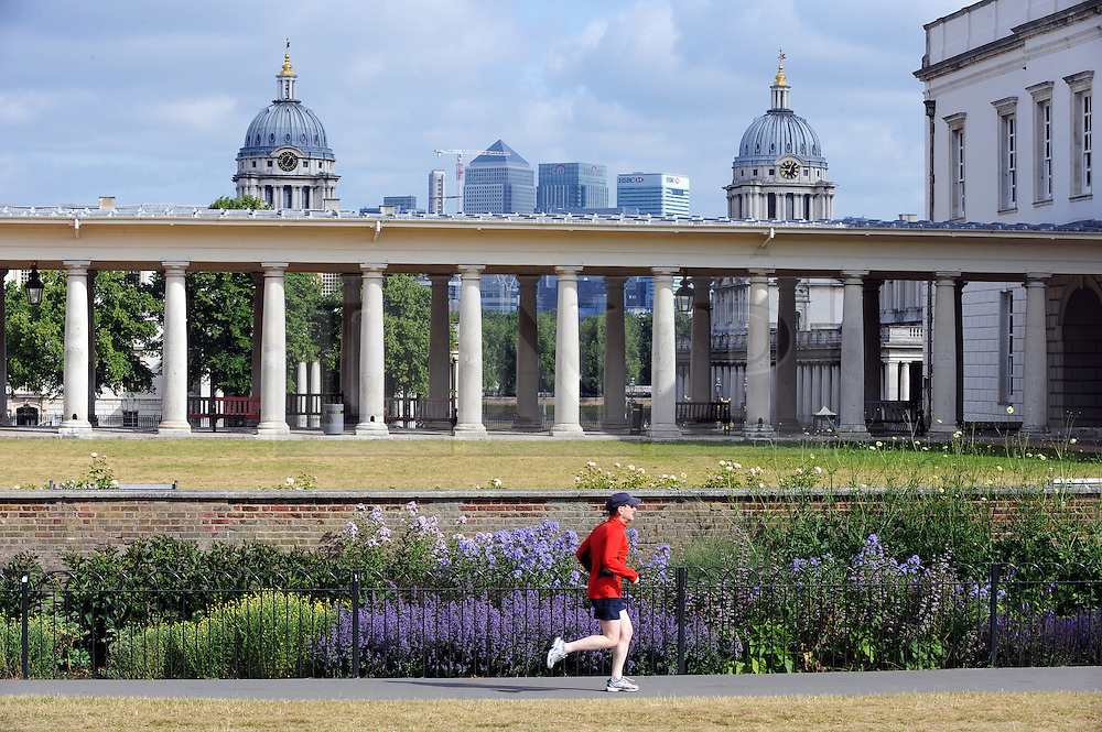 © Licensed to London News Pictures. 18/06/2015<br /> National Maritime Museum,Greenwich.<br /> Greenwich Sunny weather in South East London,UK.<br /> Early morning sunny weather in Greenwich Village and Greenwich Park today (18,06,2015)<br /> (Byline:Grant Falvey/LNP)