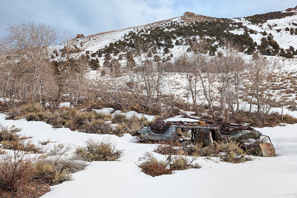 Abandoned Shotgun Riddled Car - Aspen Grove - Chemung Mine