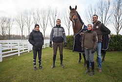 Wathelet Gregory, (BEL), Conrad de Hus with his team<br /> Ecurie Whatelet - Couthuin 2015<br /> © Hippo Foto - Dirk Caremans<br /> 21/01/15