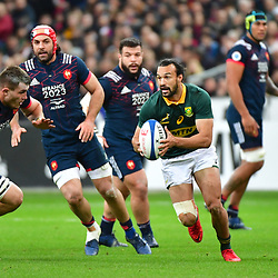 Dillyn Leyds of South Africa during the test match between France and South Africa at Stade de France on November 18, 2017 in Paris, France. (Photo by Dave Winter/Icon Sport)