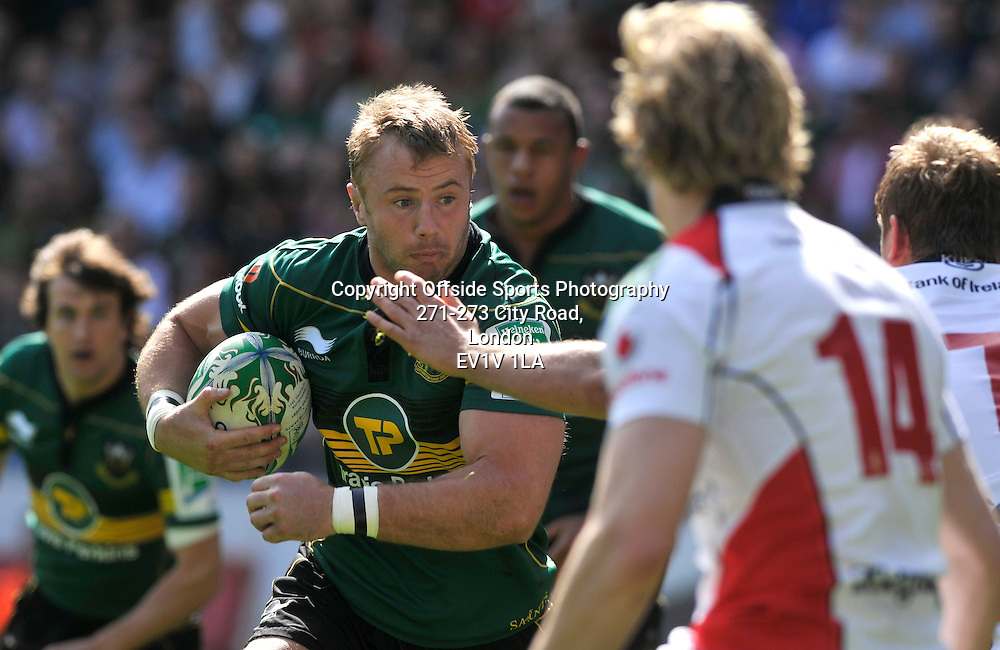 10/04/2011 - Heineken Cup Quarer Final Rugby - Northampton Saints vs Ulster - Roger Wilson attacks for Northampton. - Photo: Charlie Crowhurst / Offside.