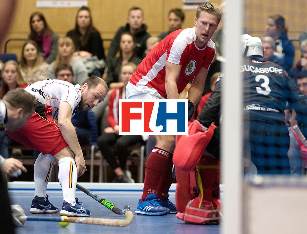 BERLIN - Indoor Hockey World Cup<br /> Austria - Belgium<br /> foto: K&Ouml;RPER Michael<br /> WORLDSPORTPICS COPYRIGHT FRANK UIJLENBROEK