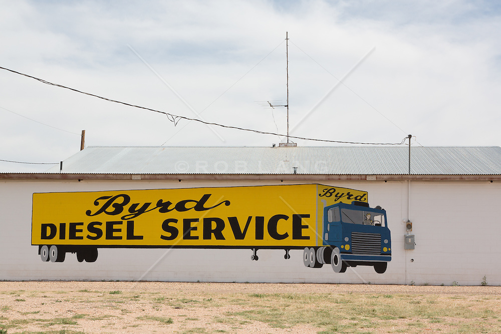 painted mural of a truck in McClean, Texas on Route 66