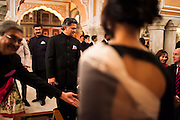 Nik Senapati, Managing Director of Argyle Diamonds, arrives at the violin recital by Australian violinist Niki Vasilakis at the OzFest Gala Dinner in the Jaipur City Palace, in Rajasthan, India on 10 January 2013. Photo by Suzanne Lee