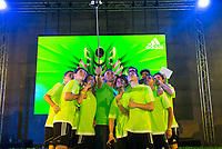Goalkeeper of Real Madrid Kaylor Navas and all the participants during the presentation of the new Adidas shoes ACE 16 at the 1v1 tournament to find the boss of Madrid at the Museo del Ferrocarril in Madrid, March 09, 2016. (ALTERPHOTOS/BorjaB.Hojas)