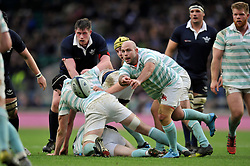 Don Stevens of Cambridge University passes the ball - Mandatory byline: Patrick Khachfe/JMP - 07966 386802 - 10/12/2015 - RUGBY UNION - Twickenham Stadium - London, England - Oxford University v Cambridge University - The Varsity Match.