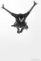 Black and white dance photography featuring Dance As Art dancer Jarrett Rashad