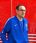 Chelsea manager Maurizio Sarri before the Premier League match between Southampton and Chelsea at the St Mary's Stadium, Southampton, England on 7 October 2018.